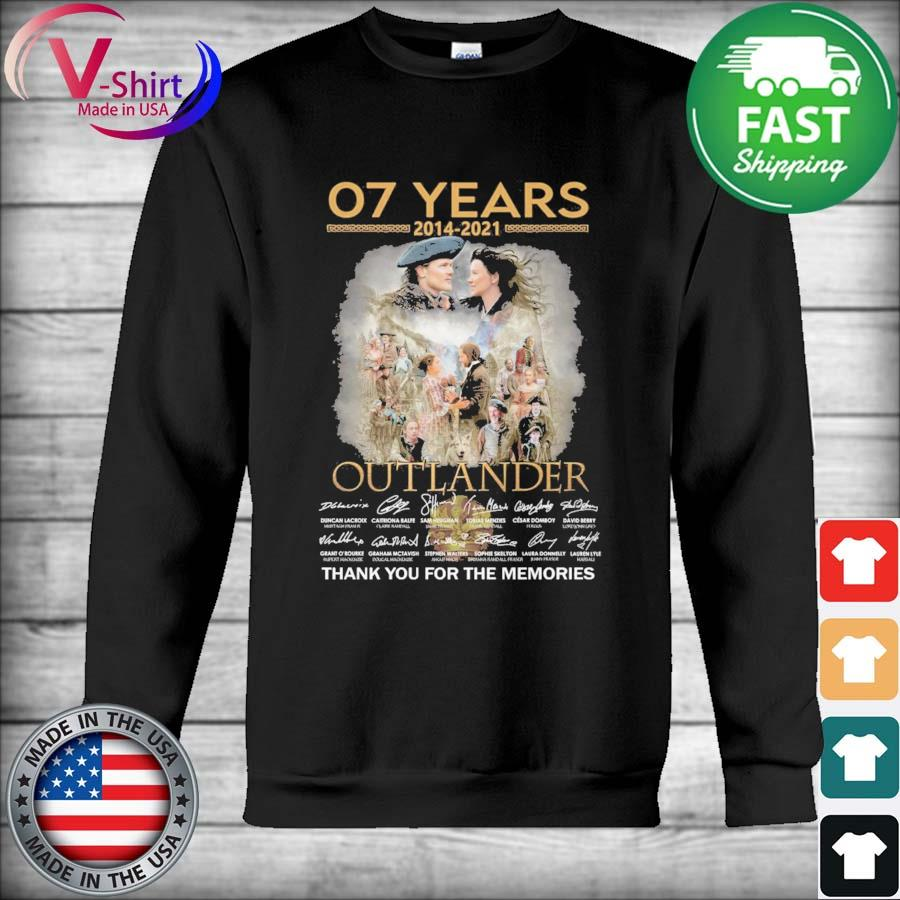 07 years 2014 2021 Outlander thank you for the memories signatures s Hoodie
