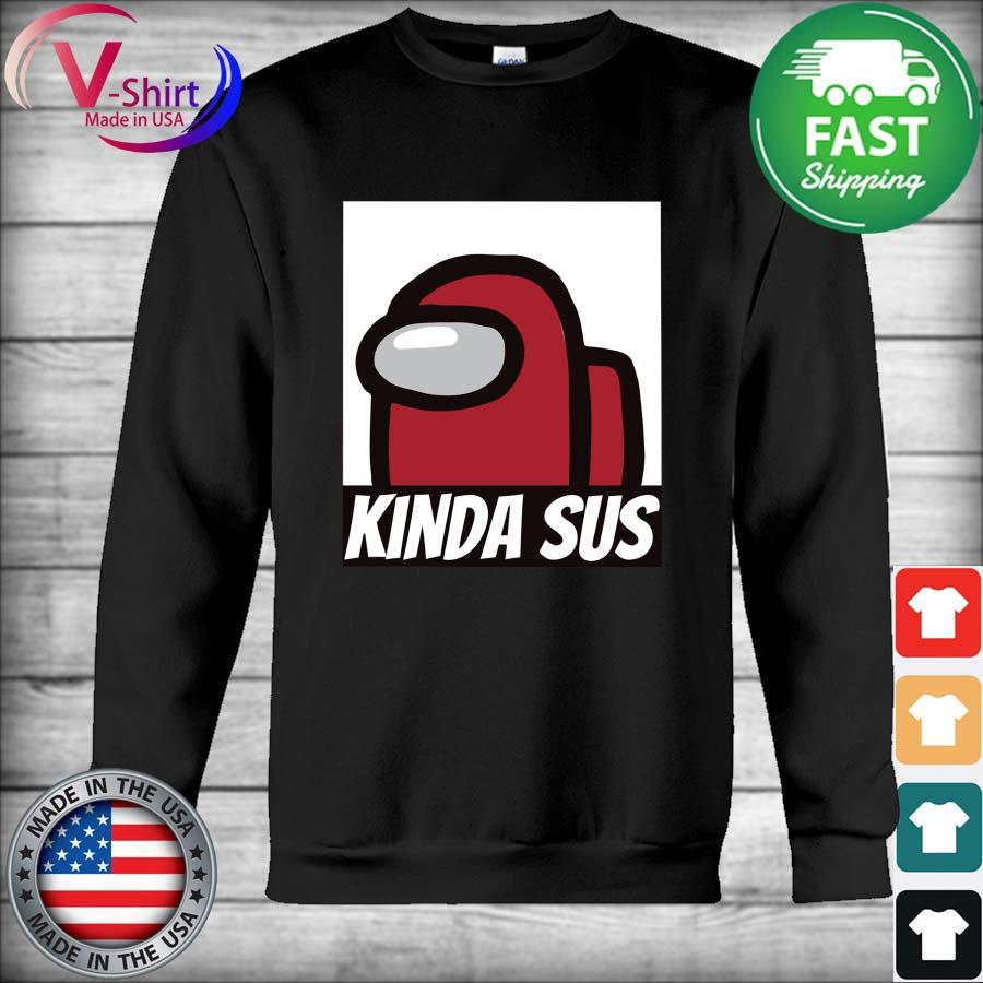 Kinds Sus Imposter Half Sleeve T-shirt Bold Red Hoodie