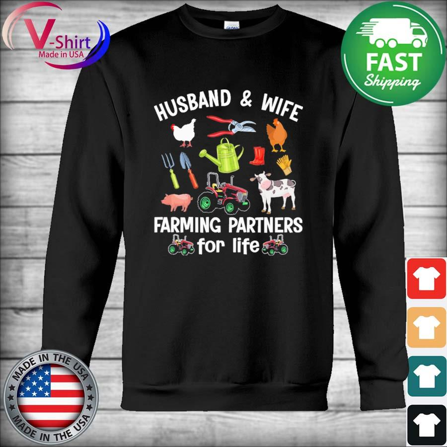 Official Husband And Wife Farming Partners For Life Shirt Hoodie