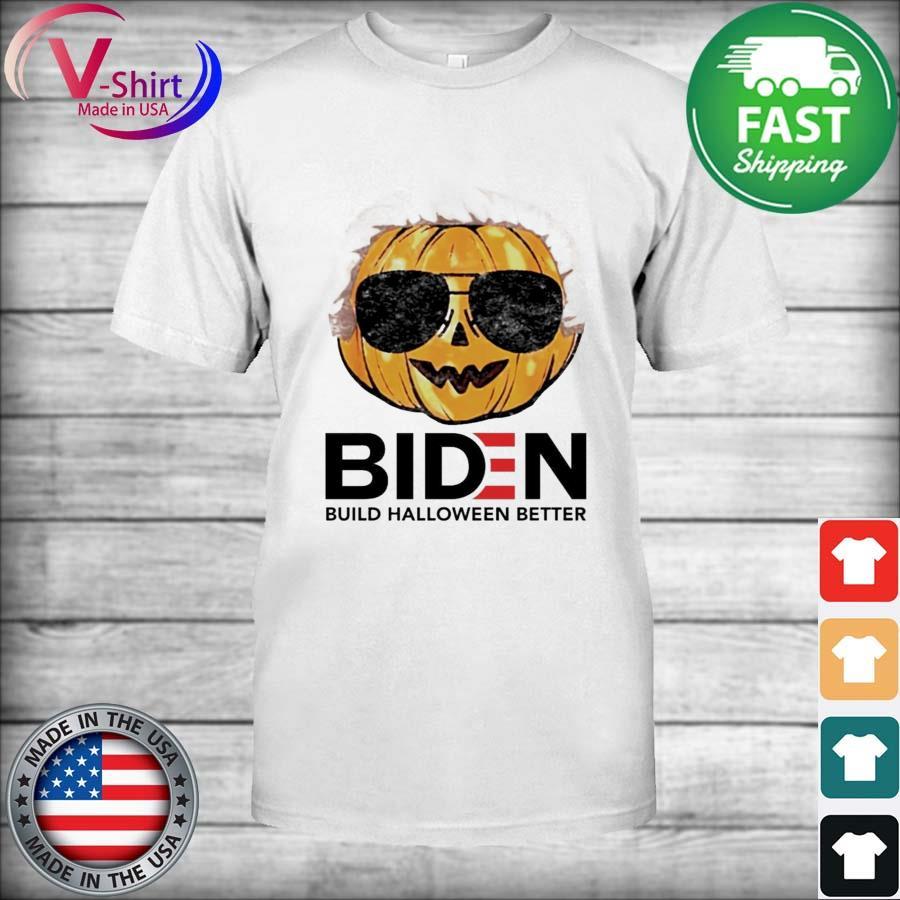 Official Pumpkin Biden Build Halloween Better 2021 Tee Shirt Masswerks Store