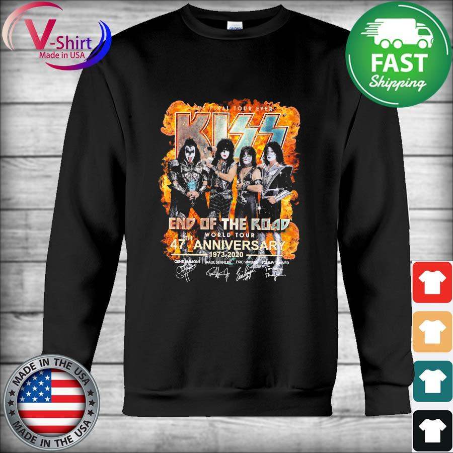 Kiss End Of The Road World Tour 47th Anniversary 1973 2020 Shirt Hoodie