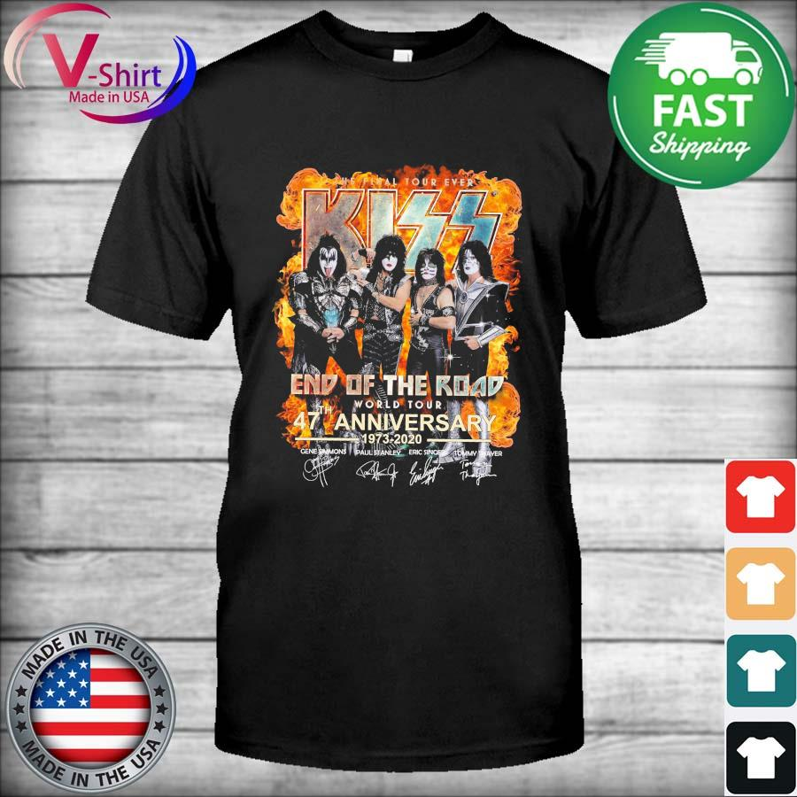 Kiss End Of The Road World Tour 47th Anniversary 1973 2020 Shirt