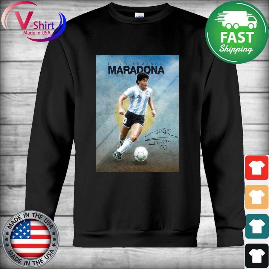 Legend Diego Armando Maradona 10 Argentine signature s Hoodie