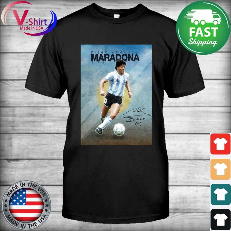 Legend Diego Armando Maradona 10 Argentine signature shirt