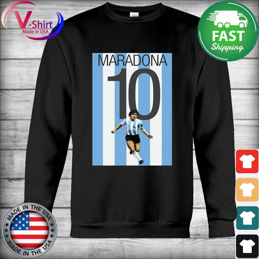 Legend Maradona 10 Argentina Shirt Hoodie