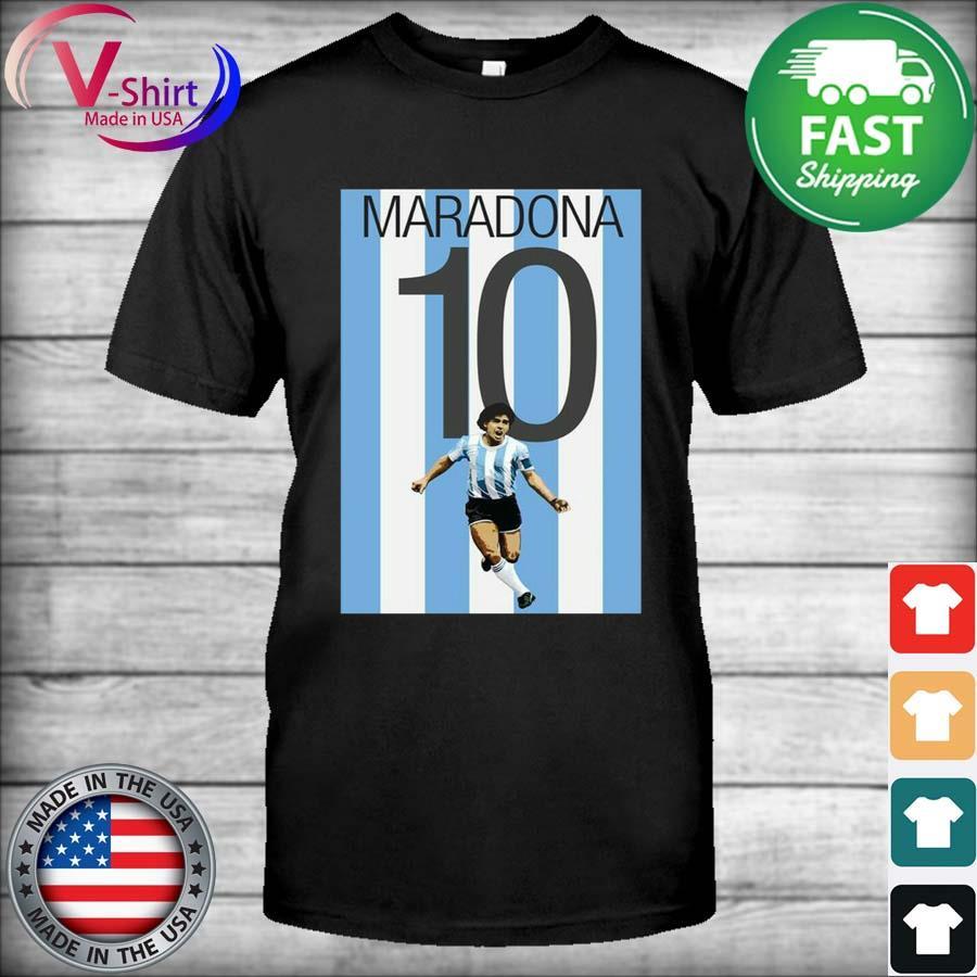 Legend Maradona 10 Argentina Shirt
