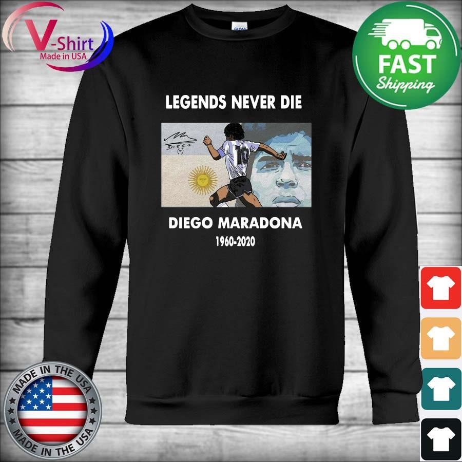 Legends Never Die Diego Maradona 1960 2020 signature s Hoodie