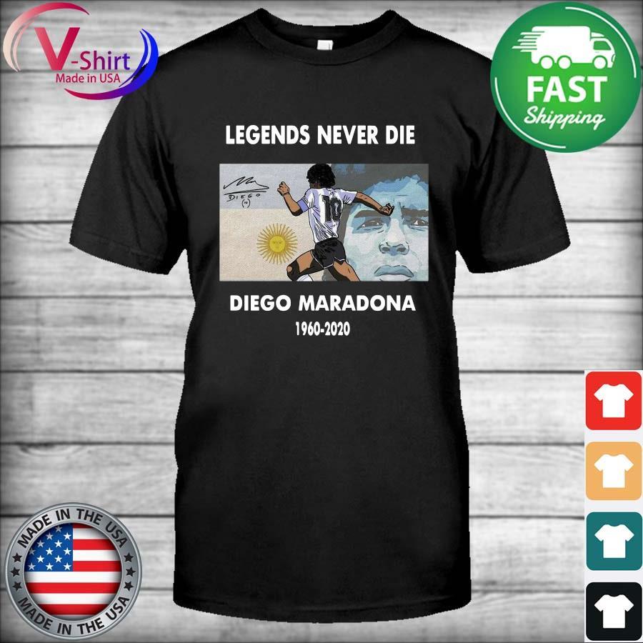 Legends Never Die Diego Maradona 1960 2020 signature shirt