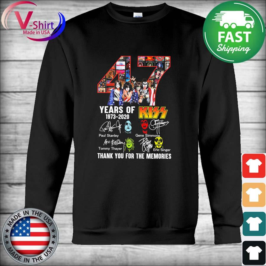 Official 47 Years Of Kiss 1973 – 2020 And Members Signatures thank s Hoodie