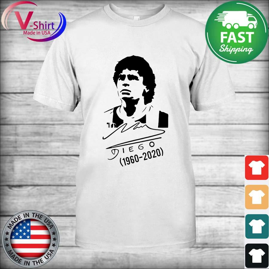 Official RIP Diego Maradona Argentina Soccer Legend signature Tee Shirt