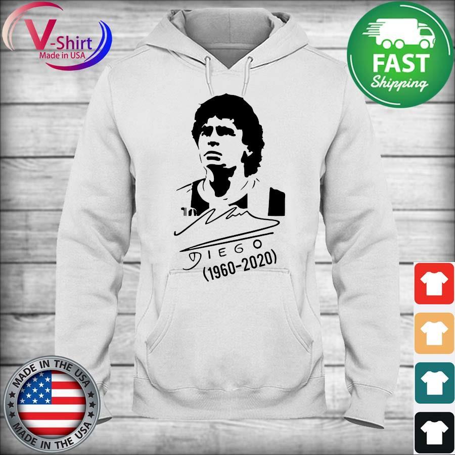 Official RIP Diego Maradona Argentina Soccer Legend signature Tee Shirt hoodie