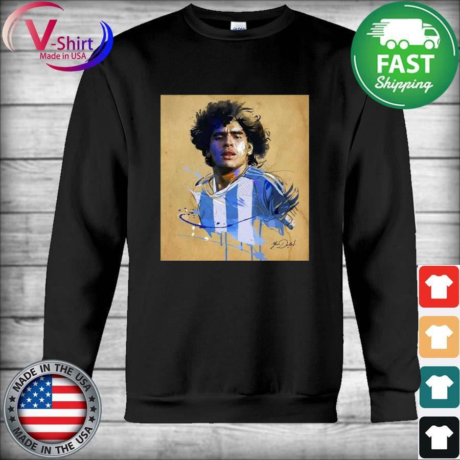 Rip Legend Diego Maradona Tribute 1960-2020 signature T-Shirt Hoodie