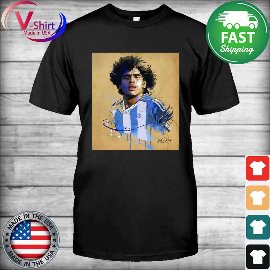 Rip Legend Diego Maradona Tribute 1960-2020 signature T-Shirt