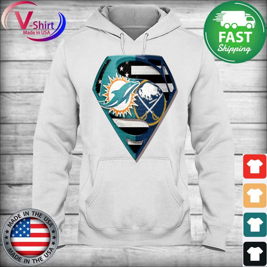 Superman Miami Dolphins vs Buffalo Sabres 2020 s hoodie