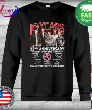 10 Years 22nd anniversary 1999 2021 thank you for the memories signatures s Hoodie