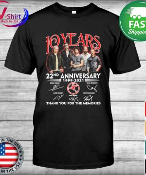 10 Years 22nd anniversary 1999 2021 thank you for the memories signatures shirt