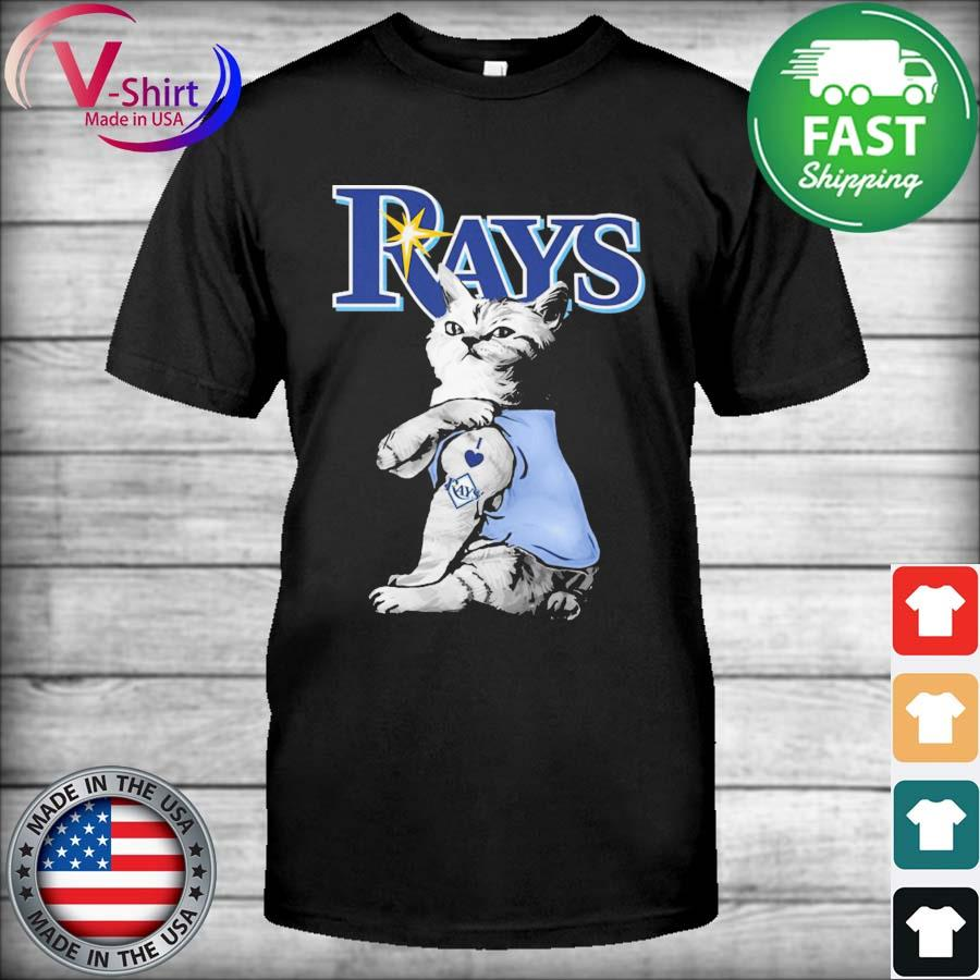 Cat tattoo I love Tampa Lightning Rays shirt