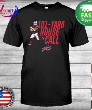 101 yard house call Taron Johnson Buffalo Bills shirt