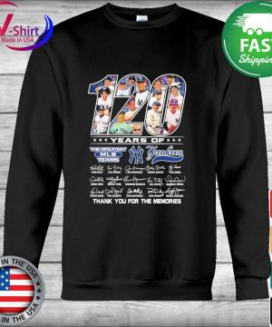 120 years of the Greatest MLB teams New York Yankees thank you for the memories signatures s Hoodie