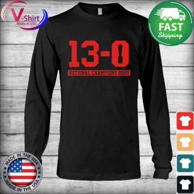 13-0 Alabama National Championship 2021 Shirt Long Sleeve