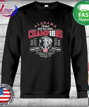 Alabama Crimson Tide 18-Time Football National Champions Elephant Engraving s Hoodie