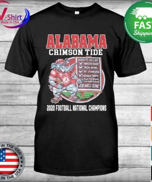 Alabama Crimson Tide 2020 Football National Champions shirt
