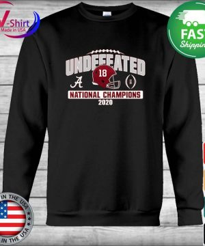 Alabama Crimson Tide Blue 84 College Football Playoff 2020 National Champions Undefeated Oversized s Hoodie