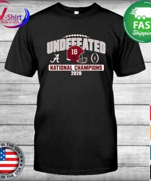 Alabama Crimson Tide Blue 84 College Football Playoff 2020 National Champions Undefeated Oversized shirt