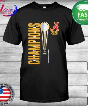 Alabama Crimson Tide Fanatics Branded College Football Playoff 2020 National Champions Celebration shirt