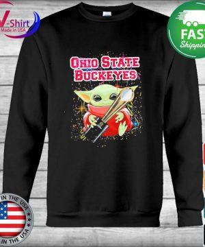 Baby Yoda hug Cup Ohio State Buckeyes s Hoodie