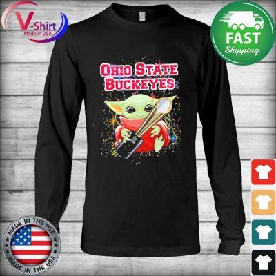 Baby Yoda hug Cup Ohio State Buckeyes s Long Sleeve