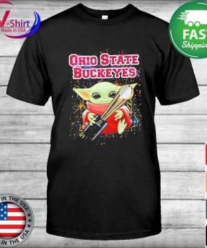 Baby Yoda hug Cup Ohio State Buckeyes shirt