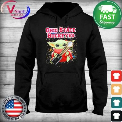 Baby Yoda hug Cup Ohio State Buckeyes s sweater