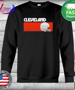 Cleveland Football Helmet Retro Game Day T-Shirt Hoodie