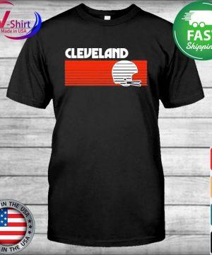 Cleveland Football Helmet Retro Game Day T-Shirt