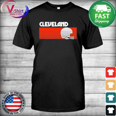 Cleveland Football Helmet Retro Game Day T-Shirt