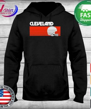 Cleveland Football Helmet Retro Game Day T-Shirt sweater
