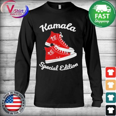 Comma La Funny Sneakers Kamala Special Edition tee Shirt Long Sleeve