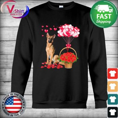 German Shepherd Rose balloon heart s Hoodie