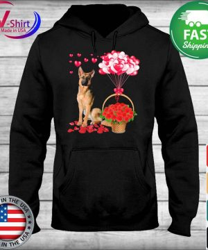 German Shepherd Rose balloon heart s sweater