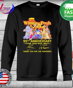 Hunny Winnie the Pooh 95th anniversary 1926 2021 thank you for the memories tee signatures s Hoodie