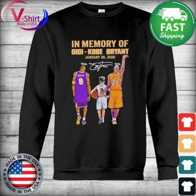 In Memory of Gigi Kobe Bryant January 26 2020 signature tee s Hoodie