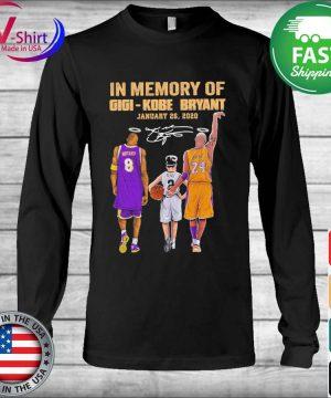 In Memory of Gigi Kobe Bryant January 26 2020 signature tee s Long Sleeve