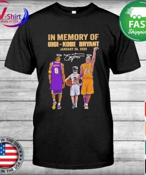 In Memory of Gigi Kobe Bryant January 26 2020 signature tee shirt