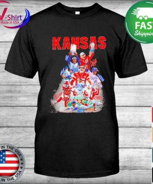 Kansas City Chiefs and Los Angeles Dodgers champions signatures shirt
