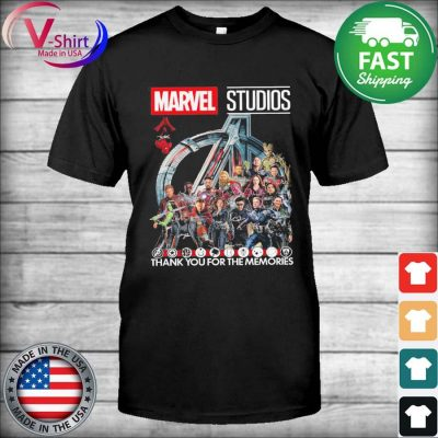 Marvel Studios thank you for the memories signatures 2021 tee shirt