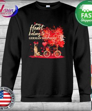 My heart belong to German Shepherd valentine s Hoodie