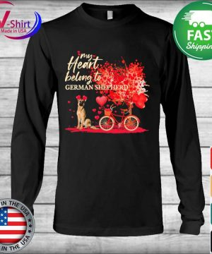 My heart belong to German Shepherd valentine s Long Sleeve