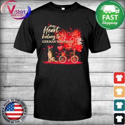 My heart belong to German Shepherd valentine shirt
