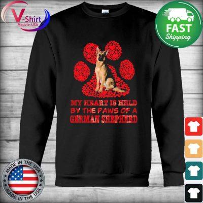 My heart is held by the Paws of a German Shepherd red s Hoodie